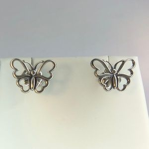 Nature Butterfly Stencil Earrings Studs Rare Class
